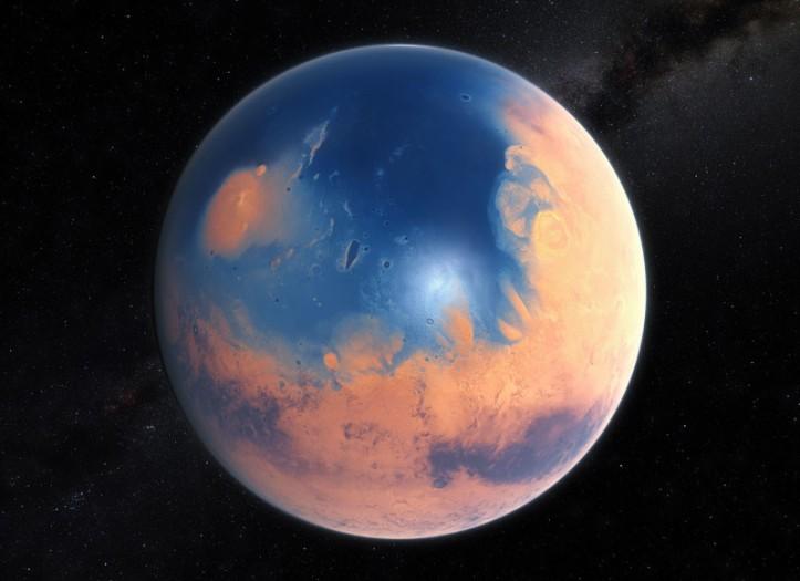 Blárauð og blaut Mars