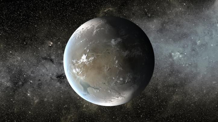Ein af mörgum frænkum móður jarðar, Kepler-438b.