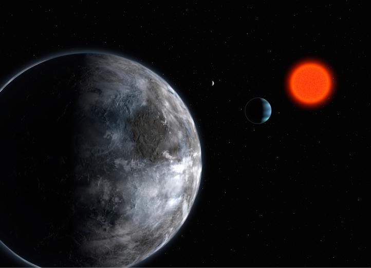 Gliese 581 c, á sama tíma öfgafull og lífvæn.