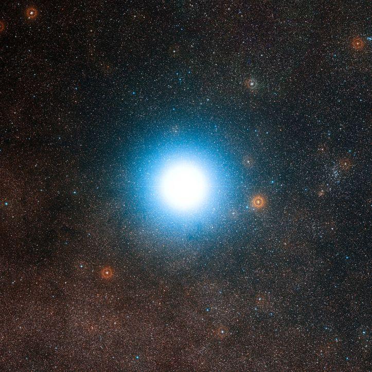 Nágrannastjarna okkar bjarta, Alpha Centauri.